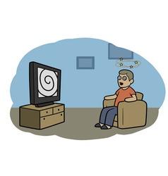 TV zombie vector image