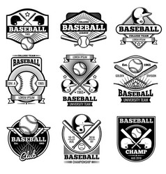 Vintage sports logo design retro baseball vector