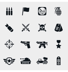 war icons vector image vector image