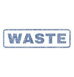 Waste textile stamp vector