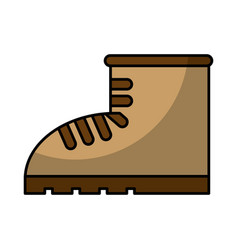 Work boot shoe isolated icon vector