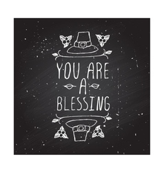 You are a blessing - typographic element vector image