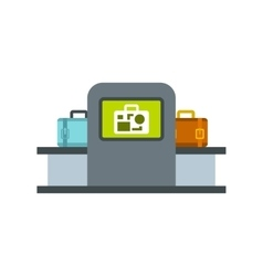 Airport baggage security scanner icon vector
