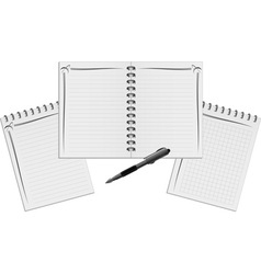 Set of notebooks vector