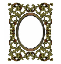 Decor frame with ornaments vector