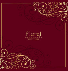 Floral ornamental decoration on red background vector