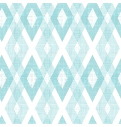 Pastel blue fabric ikat diamond seamless pattern vector image