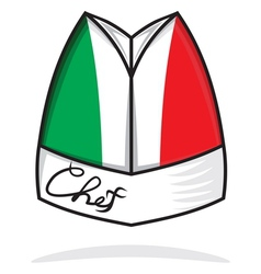 Italian chef hat vector