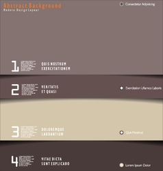 Modern brown design layout vector