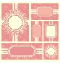 Wedding reception invitation card vector