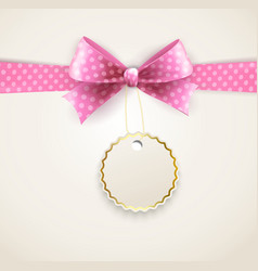 isolated polka dots bow for greeting card vector image