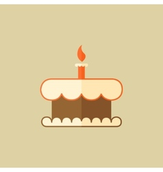 Cake food flat icon vector