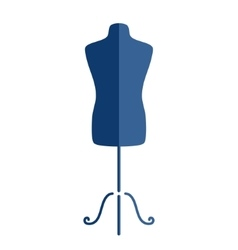 Tailor s mannequin isolated on white background vector