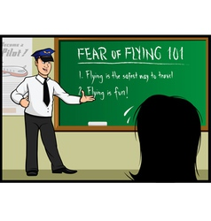 Fear of flying classroom vector
