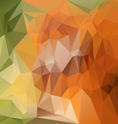 Orange green abstract polygon triangular pattern vector