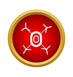 Drone icon in simple style vector image