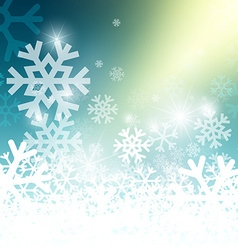 Abstract Blue Winter Background with Yellow Glow vector image