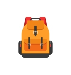 Backpack isolated flat orange vector image
