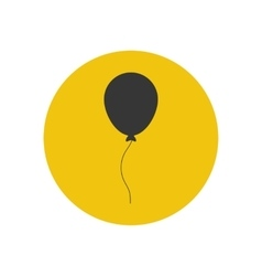 Balloon silhouette vector