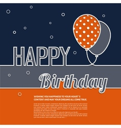 Birthday wish with balloons and text vector image vector image