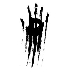Black smeared handprint vector image