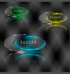 Broken illuminated banner vector