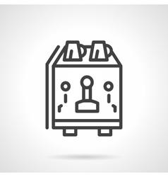 Coffee equipment simple line icon vector image