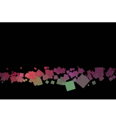colored squares on a black background vector image