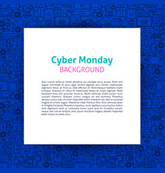 Cyber monday paper template vector