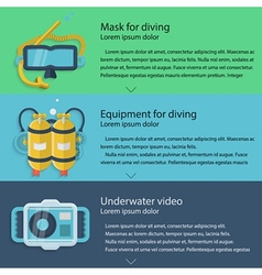 Diving equipment colored vector