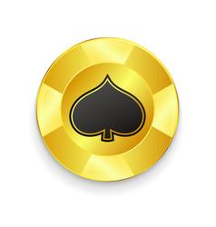 Golden chip jackpot vector