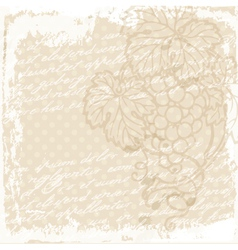 Grape vine background vector