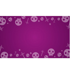 halloween background with skull collection vector image vector image