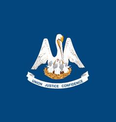 Louisiana state flag vector