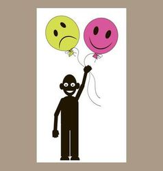 men smiley-balloons vector image vector image