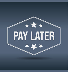 Pay later vector