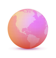 rose globe vector image vector image
