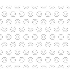seamless pattern black linear hexagons vector image vector image