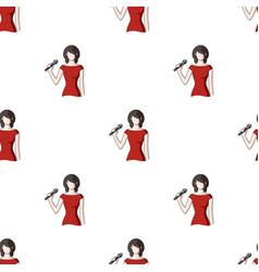 Singerprofessions single icon in cartoon style vector