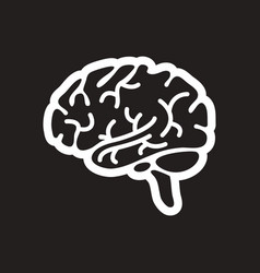 Stylish black and white icon human brain vector