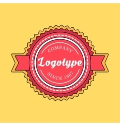 Vintage badge and label template vector