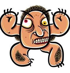 Wierd cartoon monster absolute crazy numskull vector