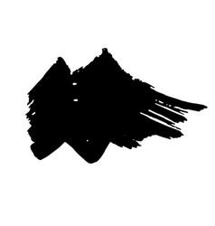 Zigzag black ink dry brush stroke vector