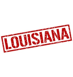 Louisiana red square stamp vector