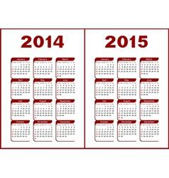 Calendar 20142015 vector