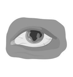 Eye single icon in monochrome styleeye vector