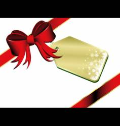 Gift with label vector