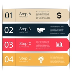 Lines arrows infographic diagram chart vector