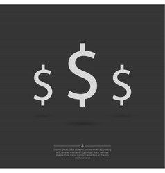 Dollar signs background vector