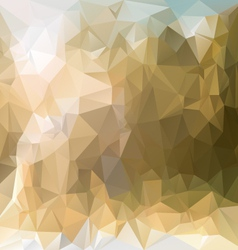 Sand beige polygonal triangular pattern background vector
